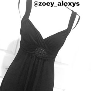 ENFOCUS Maxi Black Strapless Dress Size 6 Petite